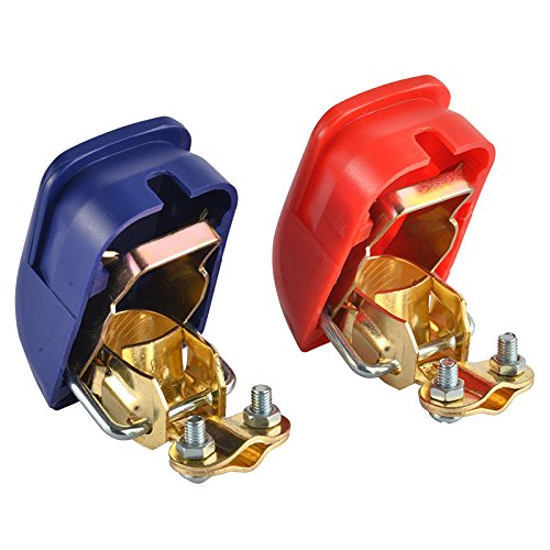 Ocamo 1 Pair Auto Accumulator Terminals Battery Terminals Switch Clamp with Quick Install for Boat Car