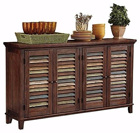 Ashley Furniture Signature Design   Mestler Dining Room Server   2 Cabinet  Serving Table   Dark