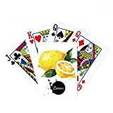 beatChong Lemon Fruit Tasty Healthy Watercolor Poker Playing Card Tabletop Board Game Gift