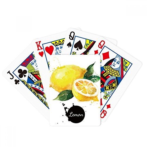 beatChong Lemon Fruit Tasty Healthy Watercolor Poker Playing Card Tabletop Board Game Gift by beatChong