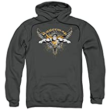 Superman DC Comics Soaring Winged Cape Adult Pull-Over Hoodie