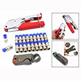 OFKPO Cable Crimper Compression For Connector Tool Cable Stripper Pliers Crimping Cutting Tool