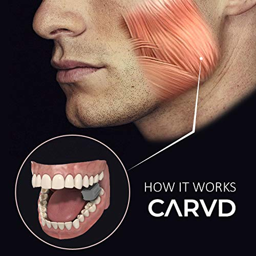 CARVD 2.0 Jaw Exerciser Tablets Define Your Jaw Line Extra Gentle Jaw Line Face Exerciser Blue Beginner