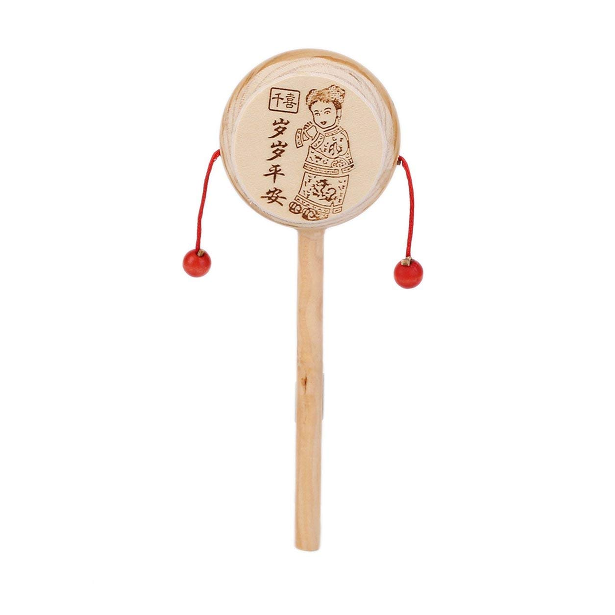 Dailyinshop Baby-Kind-Kind-Holz Rattle Trommel Instrument Kind Spieluhr Chinese Styles