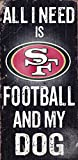Fan Creations Sign San Francisco 49ers Football and My Dog, Multicolored