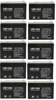 UPG D5779 UB1280-F2 Universal Lead Acid Battery - 10 Pack