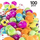 Prextex 100 Count Easter Eggs Colorful Designed Fillable Easter Eggs Easter Egg Hunt Fillable Eggs