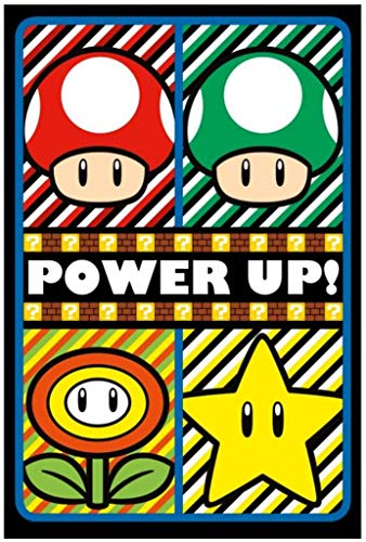 Pyramid America Super Mario Power Up Video Game Gaming Blacklight Poster 24x36 Inch