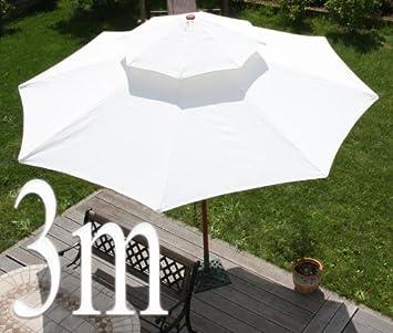 Asiatischer Sonnenschirm amazon de asiatischer sonnenschirm gartenschirm 3m creme holz