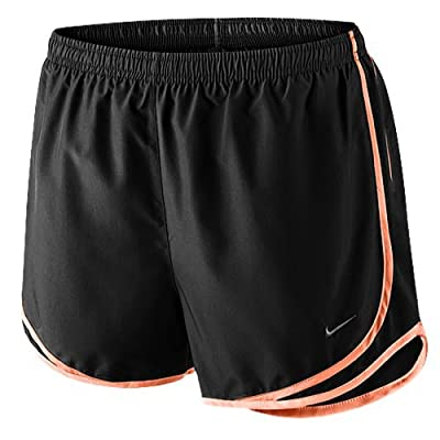 Nike Women's Tempo Running Shorts (BLACK/BLACK/SUNSET GLOW/MATTE SILVER, X-Small)