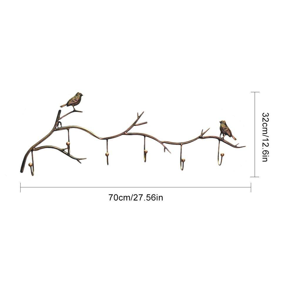 SUPERLOVE Appendiabiti a Parete Appendiabiti in Ferro Art Appendiabiti a Forma di Uccello Appendiabiti Semplice Convenienza e Multi Funzione Appendiabiti a Muro Uso per Bagno Camera da Letto Cucina