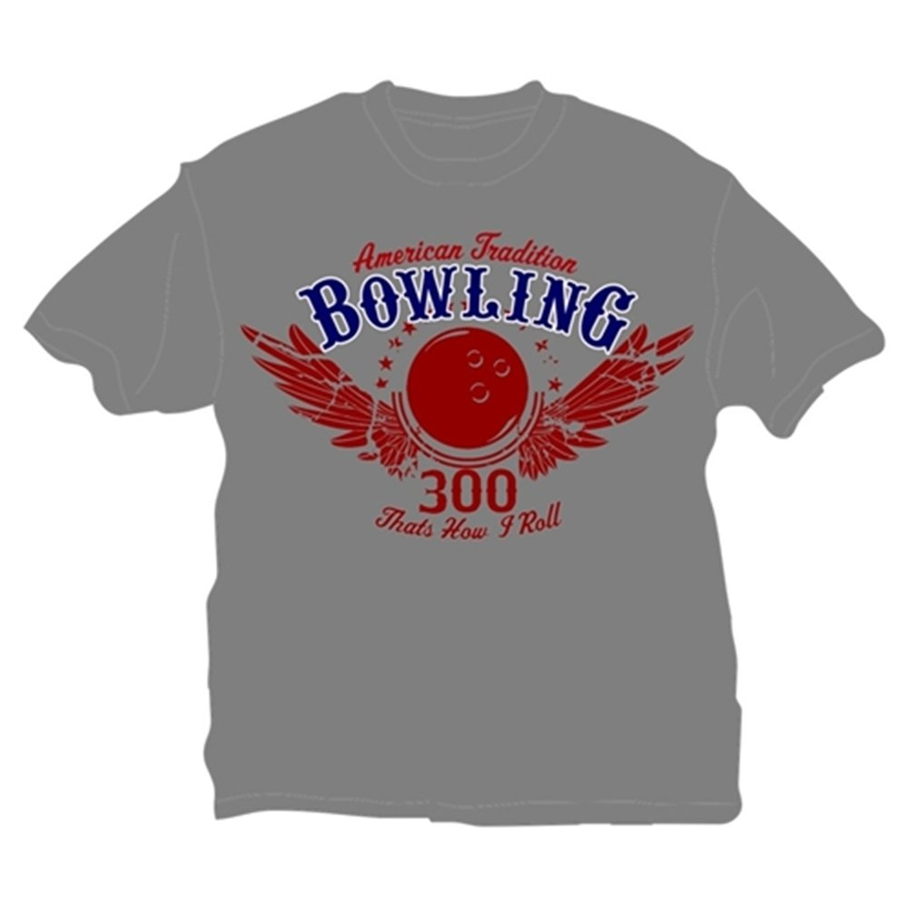 That's How I Roll Bowling T-Shirt (Youth Large, Gray) by Bowlerstore Products