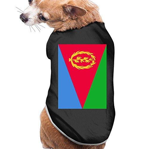 (Shenghong Lin Flag Of Eritrea Summer Pet Clothes Pet T-Shirt Dog Cat Top Vest Clothes Puppy Costumes Pet Coats)