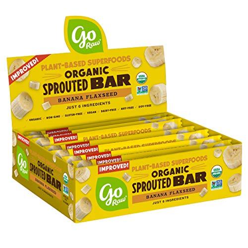 Go Raw Seed Bars, Banana Flaxseed | Keto, Gluten Free, Organic, Superfood, Paleo (10 -