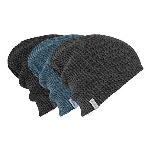 Burton Ski Hats (Burton DND beanie 3-pack, True Black/La Sky/Faded, One Size)