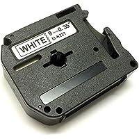 M K221 M-K221BZ noir sur blanc 9mm x 8m Ruban Étiquettes compatible avec Etiqueteuses Brother P-Touch PT-45, PT-55, PT-65, PT-70, PT-75, PT-80, PT-85, PT-90, PT-M95, PT-100, PT-110, PT-BB4