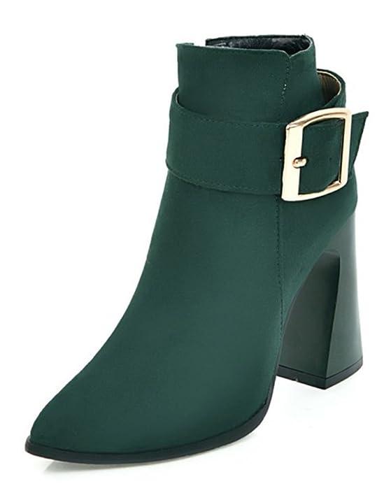 SHOWHOW Damen Sexy Klassischer Winter Boots Spitz High Heels Damenstiefel Schwarz 46 EU Yw9Sw