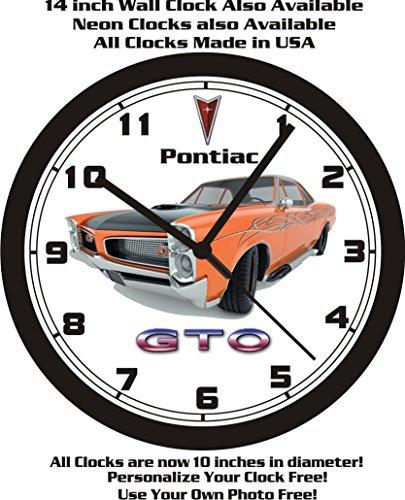 1966 PONTIAC GTO HOT-ROD WALL CLOCK-FREE USA SHIP! (Hot Rod Gto)
