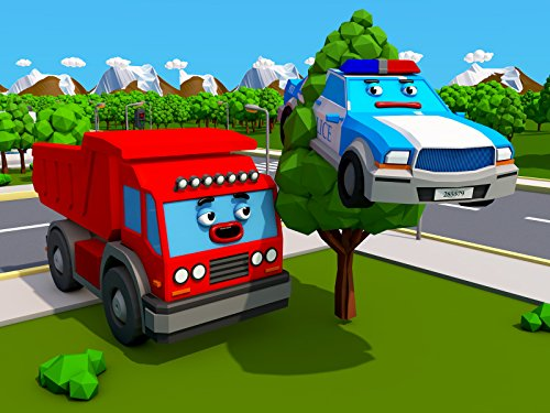 Funny Car Tree One (Big Truck and the Police Car)