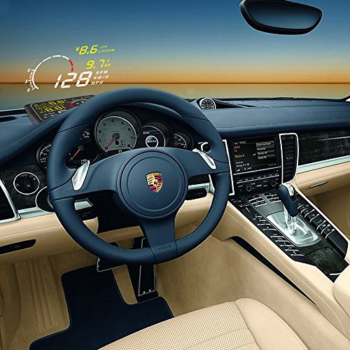 Color Tree 5.5 inch OBDII EUOBD Bluetooth Car Windshield HUD Head Up Display with Speed Fatigue Warning Digital Driving Car Speedmeter