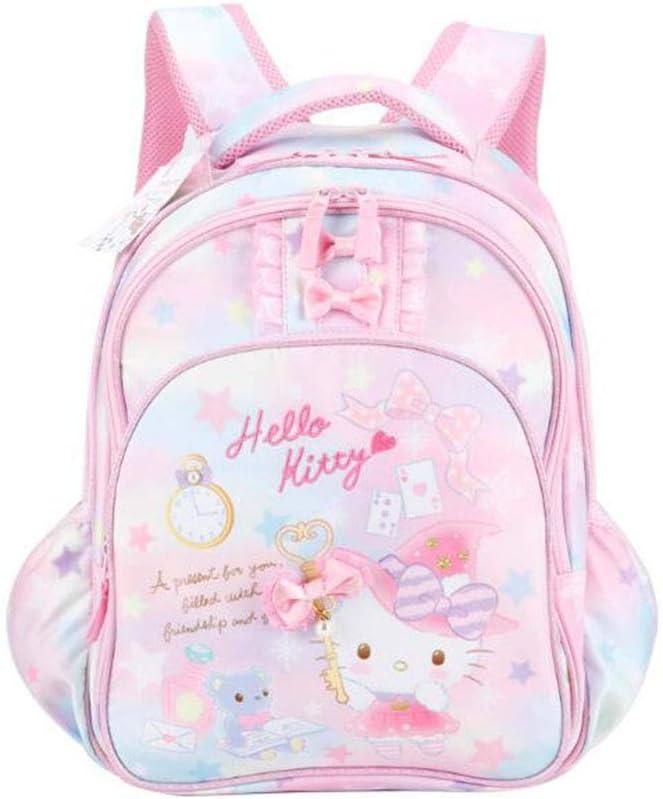 Zhenwo Hello Kitty Mochila Clase De Escuela De Grado 1-3 Informal De Ridge 2 Niñas Mochila Mochila Ultraligeros