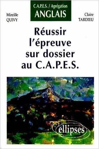 Lire un Réussir l'épreuve sur dossier au C.A.P.E.S epub, pdf