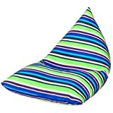 Skiing Stripe Water Resistant Pyramid Shaped Large Filled Bean Bag Lounger by Ready Steady Bed