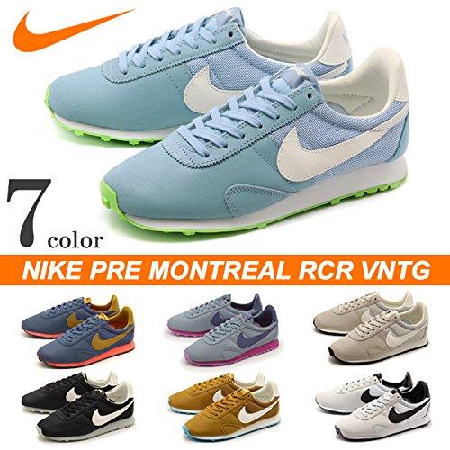 Nike Femmes Pré Montreal Racer Vntg Formateurs 555258 Sneakers Chaussures Pure Platine / Loup Gris / Gris Foncé /