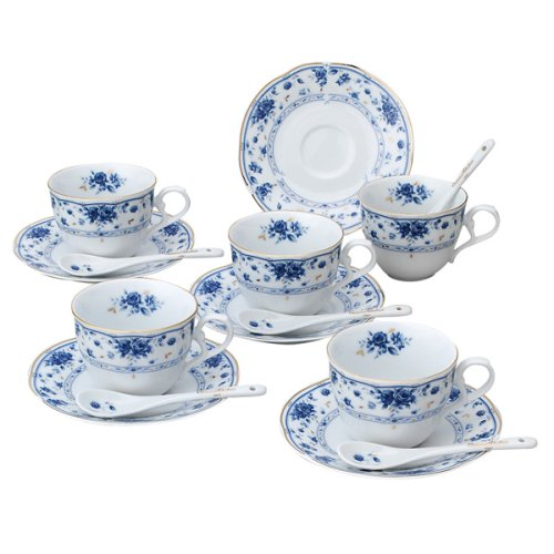Price comparison product image Giovanni Valentino cerulean blue with a spoon 5 customer bowl dish set (japan import)