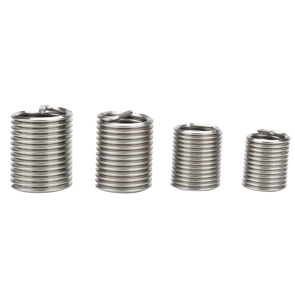 M12 M14 M18 M16 Aufee 20pcs Thread Insert Stainless Steel Wire Thread Insert Used for Low Strength Materials