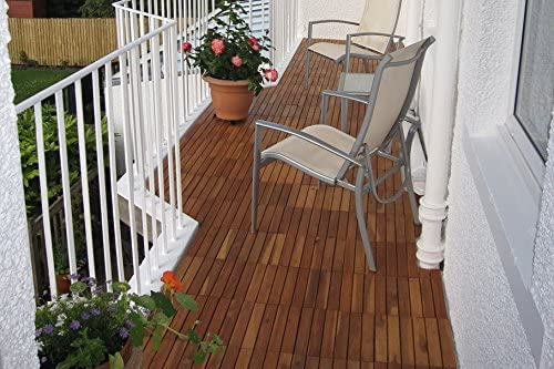 balcon Dalles de terrasse carr/ées de 30 cm. jacuzzi Patio 72 dalles de terrasse en bois dacacia tr/ès /épaisses jardin