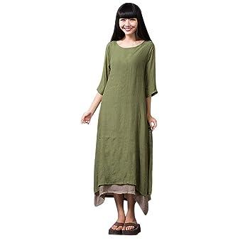 168f4aeaa291 Bibao vestido bohemio casual irregular Maxi vestidos sueltos de ...