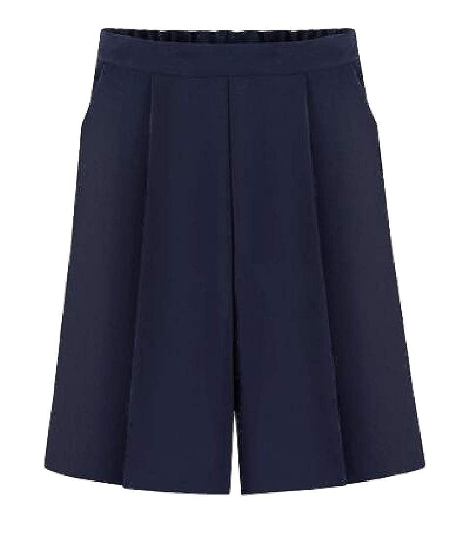 Lutratocro Womens Straight Leg High Waist Casual Bermuda Loose Pants Shorts
