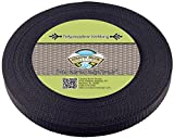 Country Brook Design 3/4 Inch Black Heavy Polypro Webbing, 50 Yards