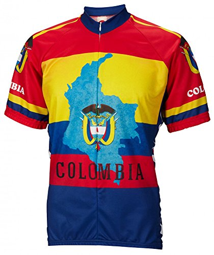 (World Jerseys Colombia Cycling Jersey Mens XXL Short Sleeve)