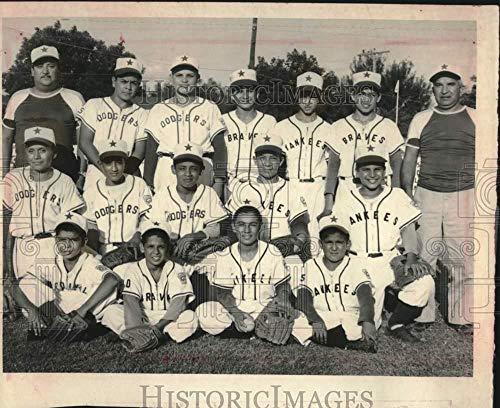 Press Photo Prospect Hill All Stars Little League Baseball Team Portrait