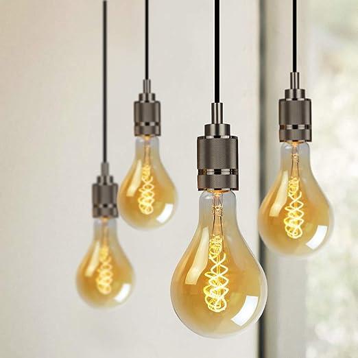 Gran tamaño Edison Bombilla A110/PS35 suave LED filamento Vintage bombilla atenuable de 4 W