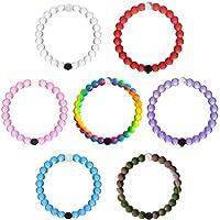 New Silicone Beaded Bracelet Medium 7PCS