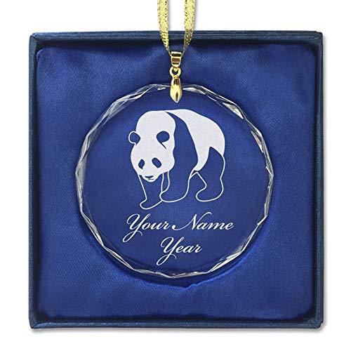 - LaserGram Christmas Ornament, Panda Bear, Personalized Engraving Included (Round Shape)