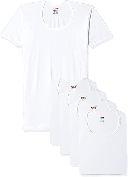 Lux Venus Men's Cotton Vest - Pack of 5 Men's Underwear Briefs at amazon