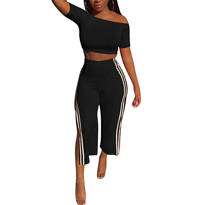 Amazon.com: Fastkoala - Conjunto de dos piezas de pantalón ...
