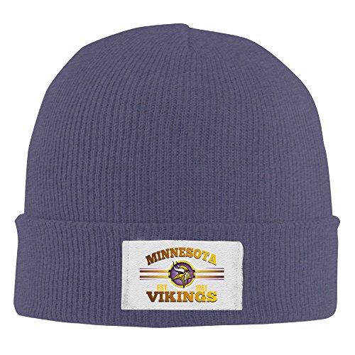 [Amone Minnesota Viking Winter Knitting Wool Warm Hat Navy] (Stefon Costume)
