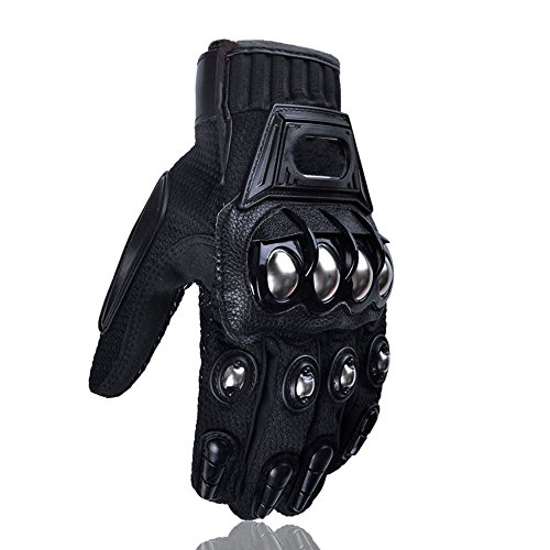 Alloy Steel Knuckle Bicycle Motorcycle Motorbike Powersports Racing Tactical Gloves (XX-Large)