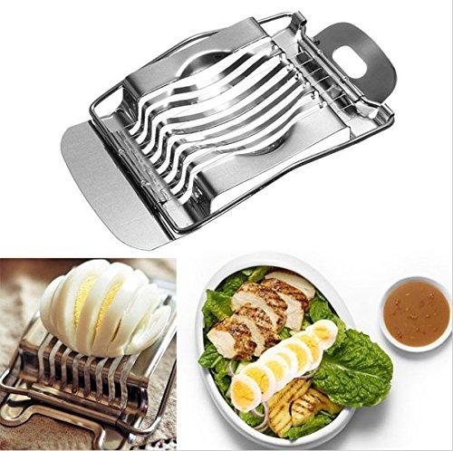 Egg Slicer Cutter Stainless Steel Egg Slicer Multifunction Kitchen Egg Slicer Sectione Cutter Mold Edges Ferramentas GN ENTERPRISES