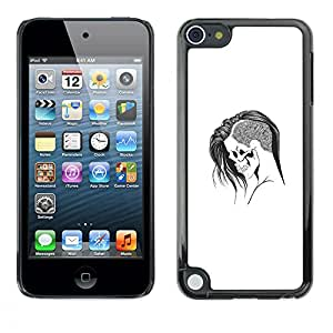 Eason Shop / Hard Slim Snap-On Case Cover Shell - Emo Goth Skull - For Apple iPod Touch 5