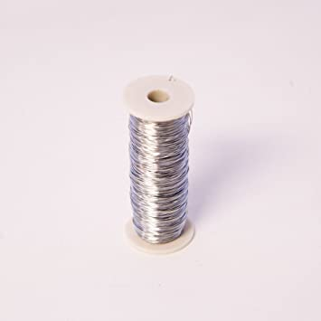 Thin Silver Reel Wire 26 Gauge for Floristry & Flower Arranging ...