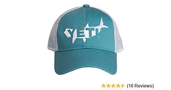 d552a8e3a7fa4 Amazon.com   YETI Tarpon Trucker Hat Teal   Sports   Outdoors