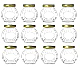 10 ounce container with lid - Nakpunar 12 pcs 10 oz Round Glass Jars with Gold Lids for Jam, Jellies, Favors, Spices