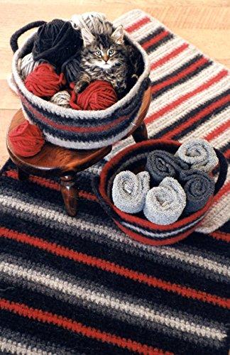 - Crocheted Felt Rug & Basket - Fiber Trends Crochet Pattern 216