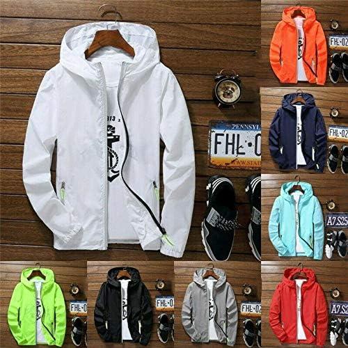 Danme Men Waterproof Wind Breaker Coat Zipper Hoodie Jacket Quick Drying Sport Outwear